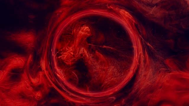 ink water swirl zodiac horoscope red glitter fume