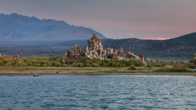 Inland Tufa Left by Sinking Water Level at Mono Lake video