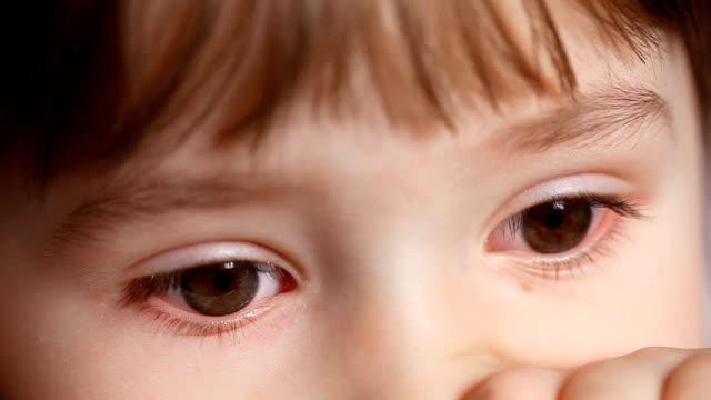 Innocent Child Eyes Innocent child eyes sideways glance stock videos & royalty-free footage