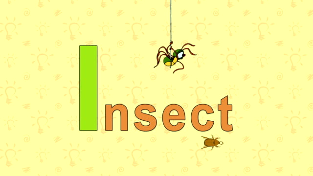Insect. English ZOO Alphabet - letter I video