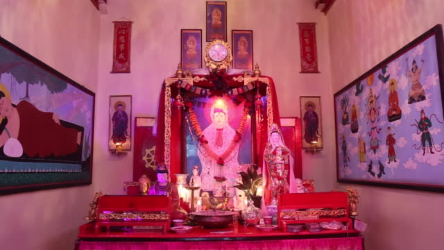 Inside a Chinese temple in India