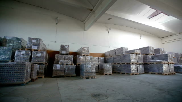 Inside a storage warehouse. Inside a storage warehouse. Camera moving. pantry stock videos & royalty-free footage