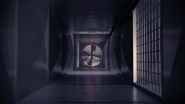 inuti air vent luft kanal luft axeln ventilation system action film escape 4k - ventilation bildbanksvideor och videomaterial från bakom kulisserna
