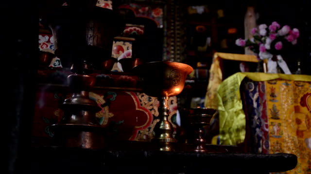 Inside Buddhist temple video