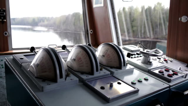 Inside details of the cruise liner control room. video