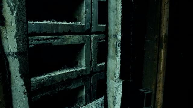 Inside of old abandoned military bunker video