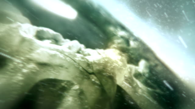 Inside of the eye. 3D animation. Macro. video