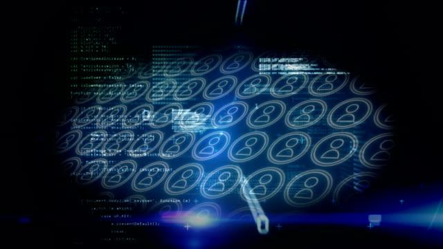 デジタルテクノロジーの世界の内部 - 鎖の輪点の映像素材/bロール