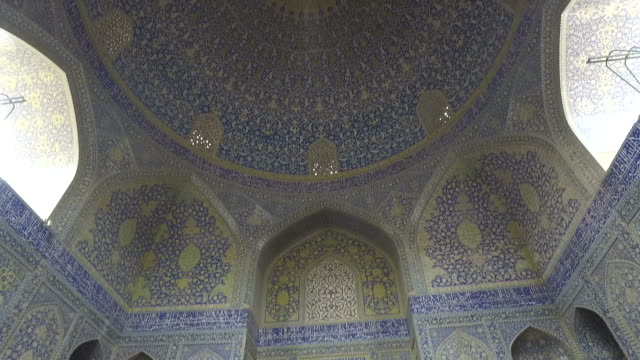 Inside the dome of the Naghsh-e Jahan Mosque video