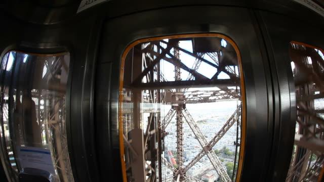 HD: Inside the Elevator of Eiffel Tower