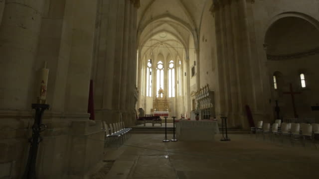 inside the roman catholic church, alba iulia - cathedrals stock videos & royalty-free footage