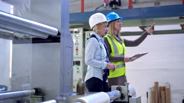 Inspecting work in factory video