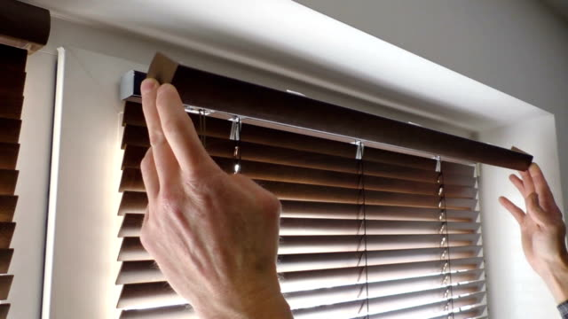 Installation of blinds. video