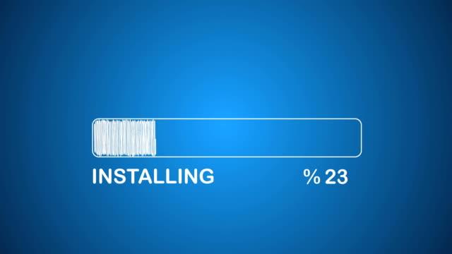Installing Bar Installing Bar progress bar stock videos & royalty-free footage
