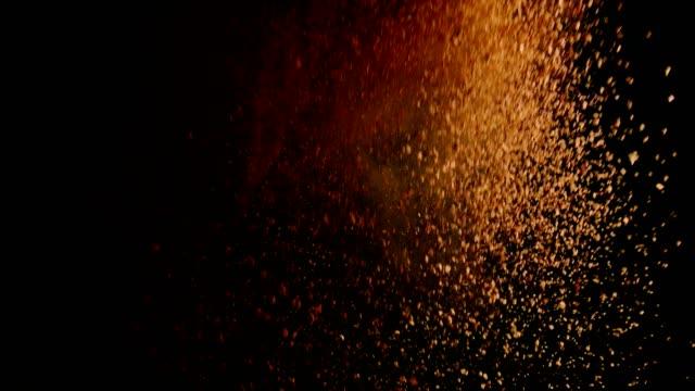instant kaffee essen explosion - gemahlen stock-videos und b-roll-filmmaterial