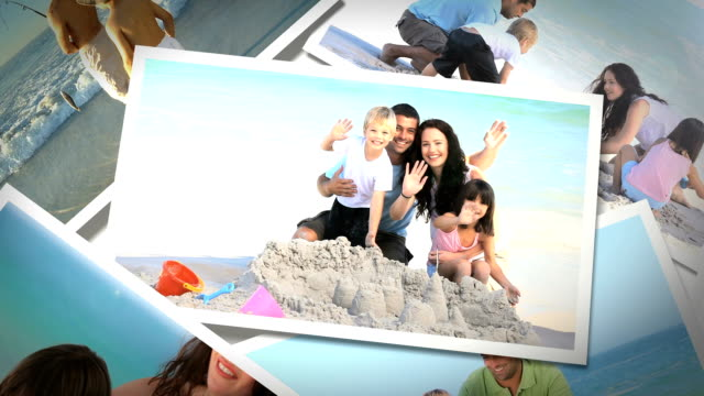 stockvideo's en b-roll-footage met instant photos of summer situations - polaroid
