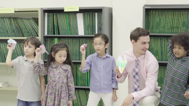 Instructor teach Child for Development Learning video