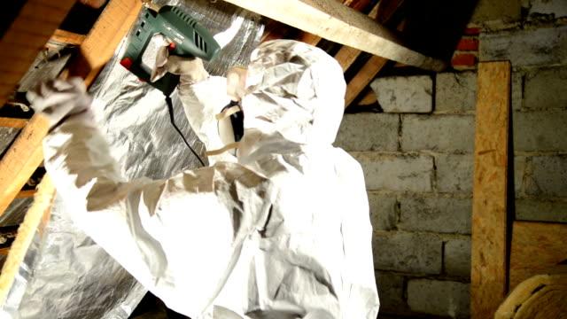 isolierung - dachboden stock-videos und b-roll-filmmaterial