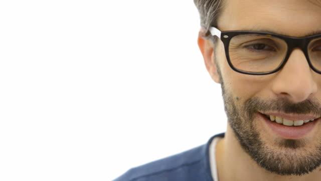 Intellectual man smirking video