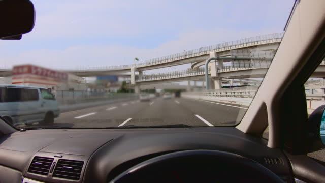 interchange of expressways crossing overpass - estakada skrzyżowanie dróg filmów i materiałów b-roll