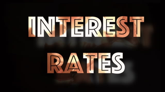 Interest rates shrinking computer graphic