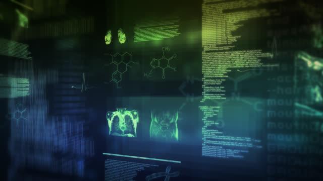 MRI interface.2 in 1 ます。 マルチカラーのます。 ループます。 ビデオ