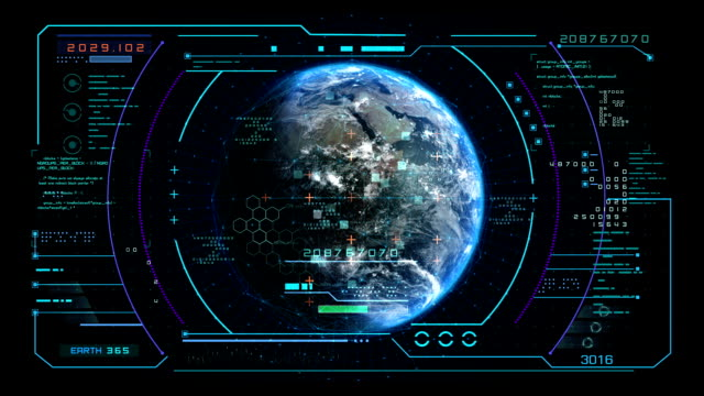 Interface display scanning of the planet Earth