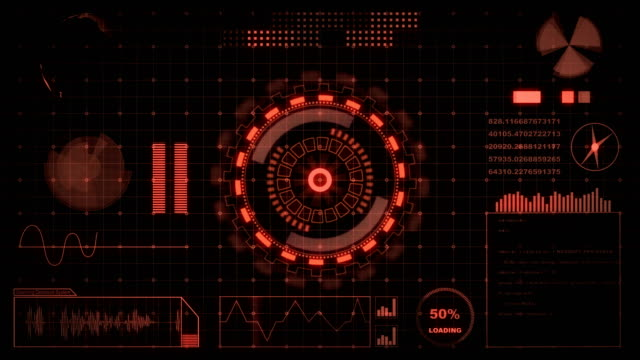 Interface head up display motion background Motion graphic : Interface head up display motion background instrument of measurement stock videos & royalty-free footage