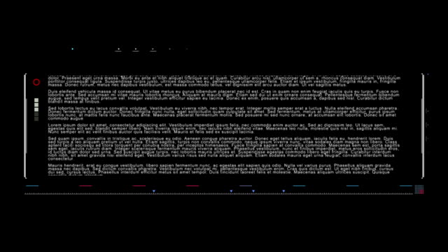 Interface text with brackets. HUD UI stock video video