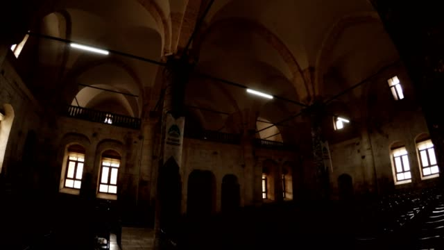 Interior Decoration of Old Catholic Church Transformed in Theatre Urfa video