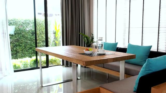 Interior design of modern Dining room video