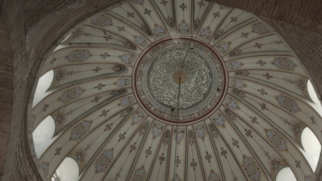 Interior dome of Mosque in Istanbul, Turkey. May 10, 2015 video