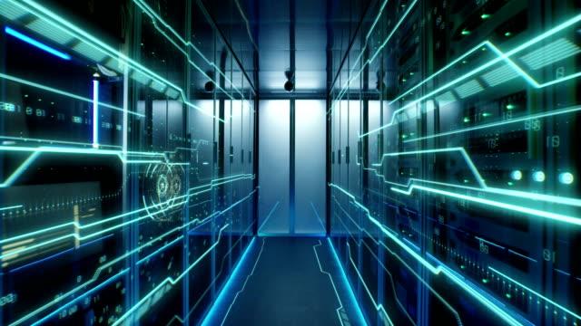 stockvideo's en b-roll-footage met interieur van een futuristische datacenter - datacenter
