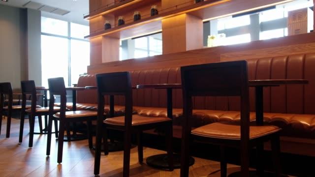 Interior of coffee shop, Cafe restaurant.