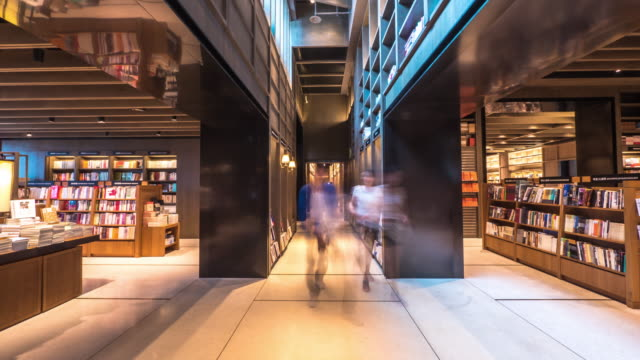 interior of famous book store in suzhou. timelapse 4k hyperlapse video