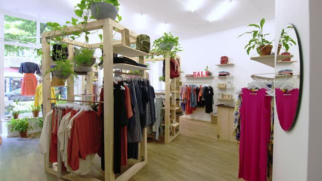 Interior of garment store post COVID-19 lockdown