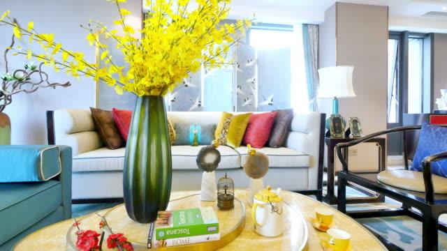 interior of luxury living room video