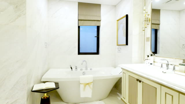 interior of modern bathroom video
