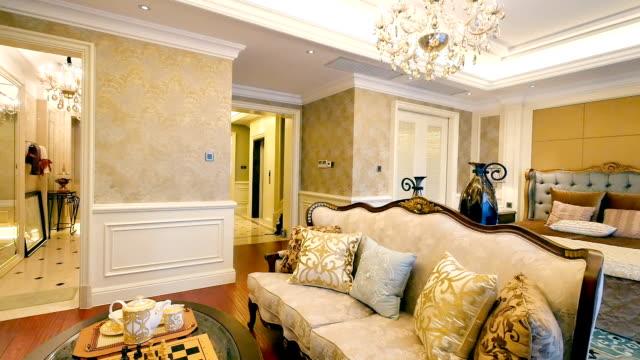 interior of modern bedroom video