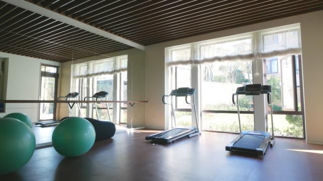 interior of modern gym 4k video