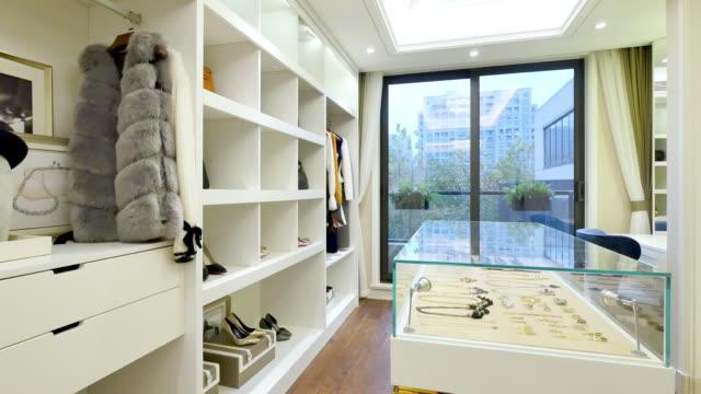 interior of modern wardrobe video