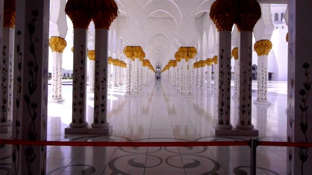 シェイク ザイード モスクの内部 - モスク点の映像素材/bロール