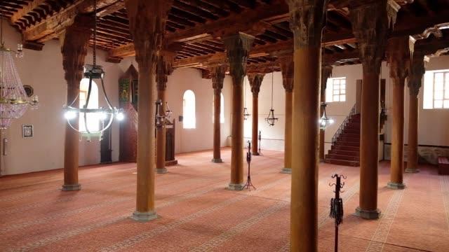 Interior of the Afyonkarahisar Ulu Cami Grand Mosque.