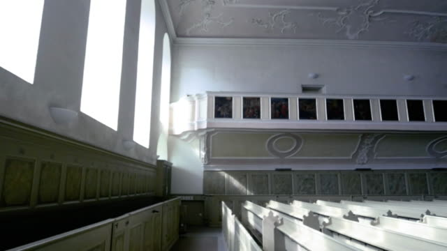 Interior of the ancient Spitalkirche in Bayeruth