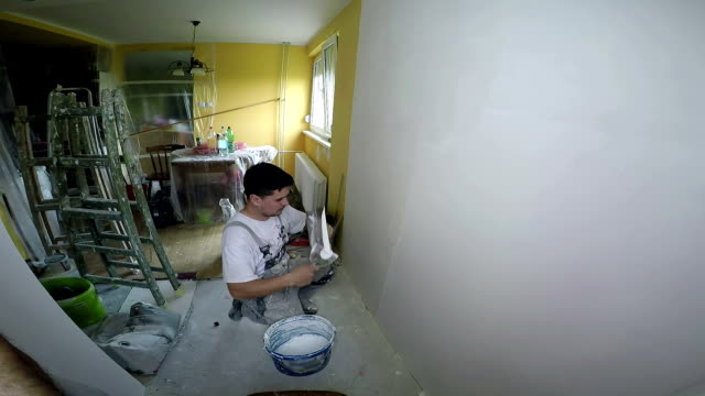 Interior View of House Under Renovation video