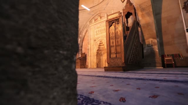Interior view of 'Ulu mosque in the Kayseri city of Turkey.  Kayseri/Turkey 03/15/2017