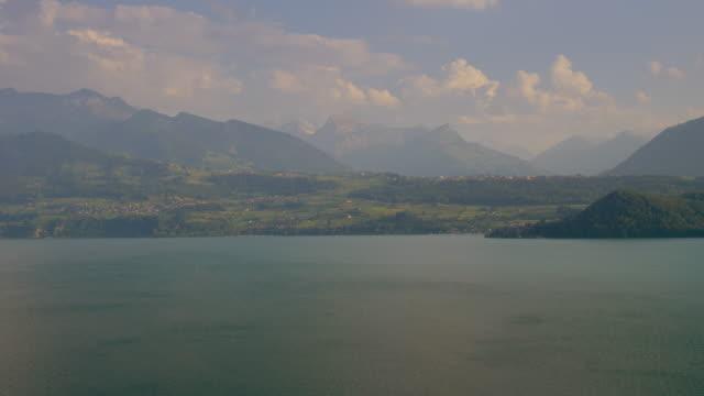 Interlaken Area with Jungfrau Region Panorama. Lake Thun. Switzerland video