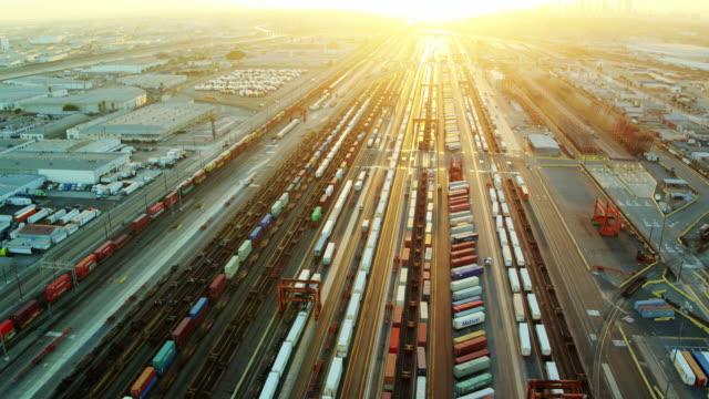 Intermodal Yard in Vernon, California - Drone Shot