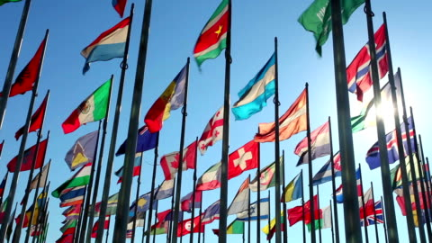 International flags International flags with back light flag stock videos & royalty-free footage