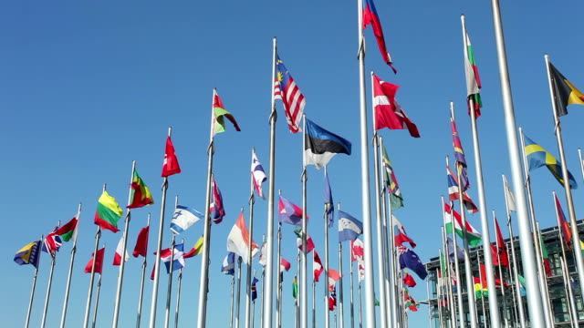 International flags video